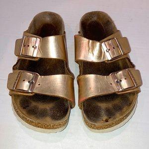 Birkenstock Arizona Gold Metallic Sandals